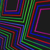 Brightly colored lines on black background